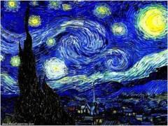 """Quadro """"Noite Estrelada"""" Van Gogh"""