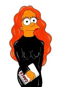 Marge Simpson como Grace Coddington: faltou mais cabeleira!
