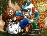 Mario vs. Dig Dug