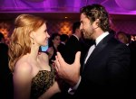bugs_oscar_after_party_jessica chastain and Gerard Butler