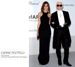 Carine Roitfeld veste Givenchy com Karl Lagerfeld