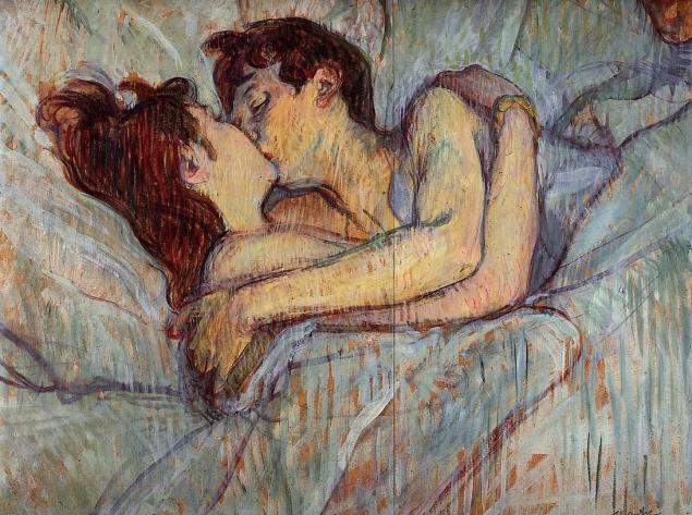 Beijo na cama - Henri de Toulouse - Lautrec