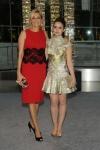 Nadja Swarovski and Lily Collins, vestindo  Marchesa e Atelier Swarovski jewels.